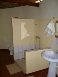 Hotel De La Plage - koupelna uvnitř chatičky