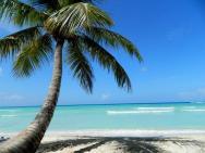 pohled na pláž na ostrově Saona