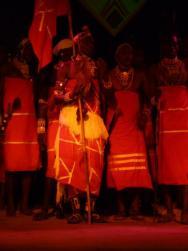 Masajské večerní vystoupení , bylo velmi zajímavé