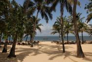 hotelová pláž, dál už pouze veřejná