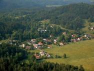 Celkový pohled na Jetřichovice z Mariánské vyhlídky