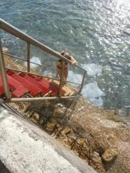 žebřík do vody.......
