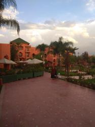 Pohled na areál hotelu